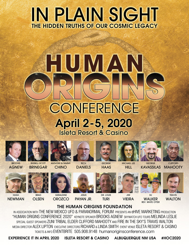 Official Human Origins Conference 2020 poster